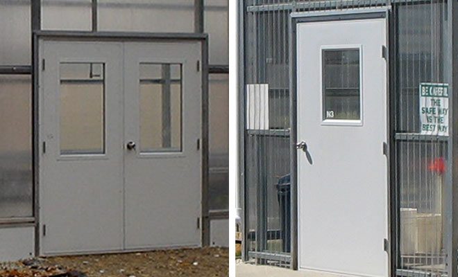 Door Options by United Greenhouse Systems & United Greenhouse Systems - Greenhouse Door Options